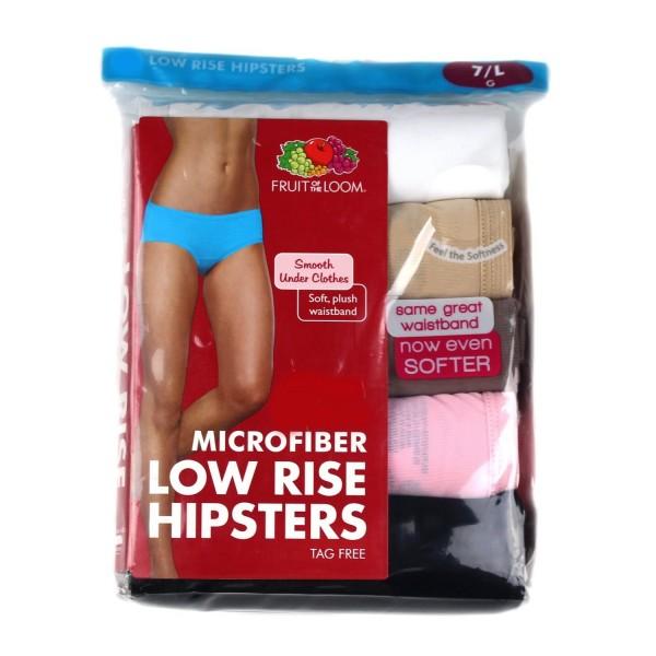 Fruit Loom Microfiber Hipsters 6 Medium