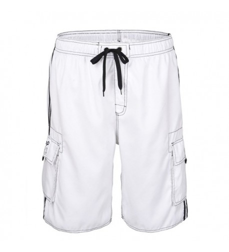 0bd3fa7a8d Board Shorts Unitop Mens Classic Solid Colors Swim Trunks with Lining