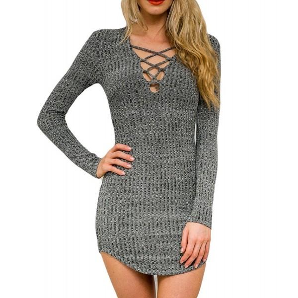 Persun Women Sleeve Bodycon Sweater