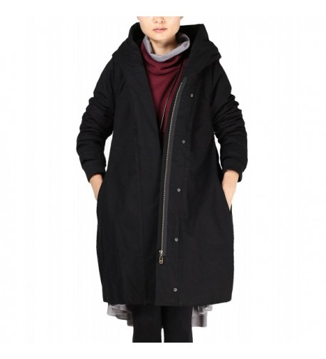 Mordenmiss Womens Trenchcoat Outerwear Pockets