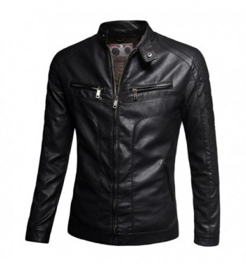 Designer Men's Faux Leather Jackets On Sale