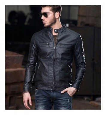 Men's Faux Leather Coats Online Sale