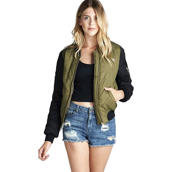 ToBeInStyle Womens Contrast Bomber Jacket