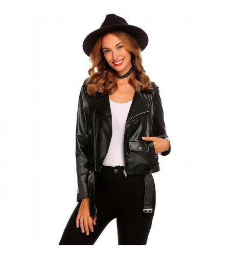 SummerRio Womens Leather Bomber Jackets