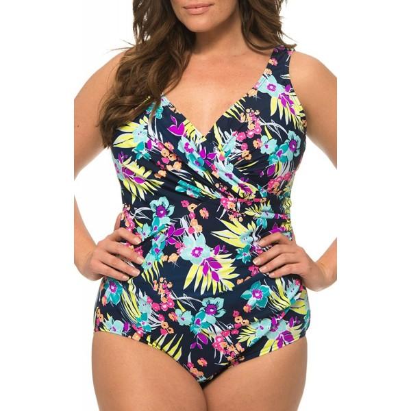 Caribbean Sand Surplice Swimsuit Multicolored