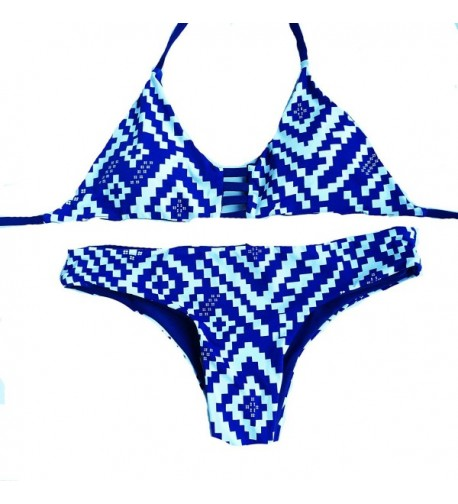 FLORAVOGUE Reversible Triangle Strappy Swimwear
