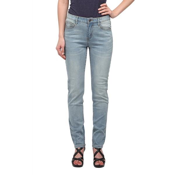 ec136cd1fcbac Women s Light Blue Mid-Rise Straight Jeans (Souci) - C7185QR87C9