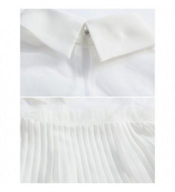 2e9e5418225889 Blouses & Button-Down Shirts Sweetylove Sheer Mesh Ruffle Chiffon Blouse  Women Long Sleeve Shirt Tops