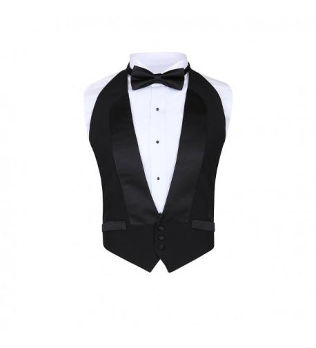Classic Formal Black Backless Tuxedo