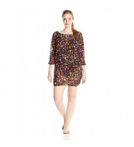 Anne Cole Plus Size Rosebud Side Shirred