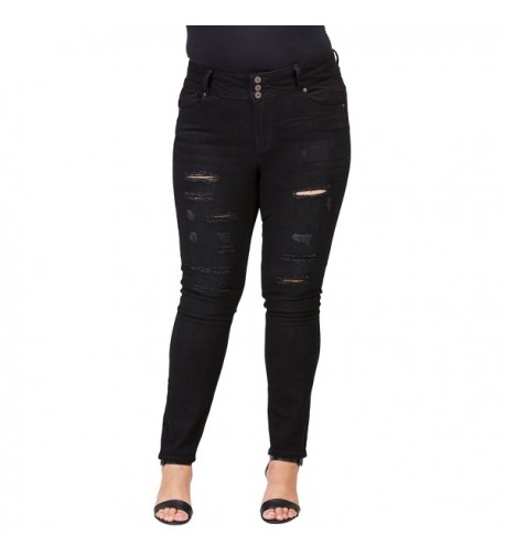 Clingers Womens Plus Size Relaxed Jeans