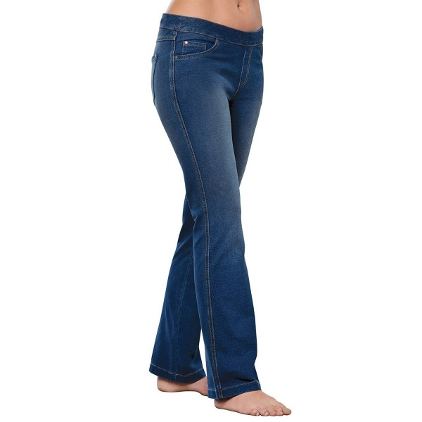 PajamaJeans Womens Bootcut Stretch Bluestone