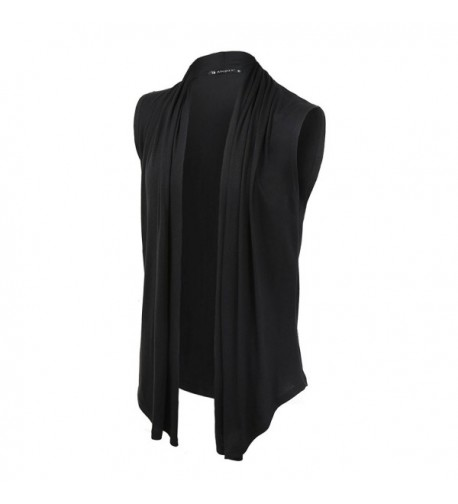 Allegra Front Sleeveless Asymetric Cardigan