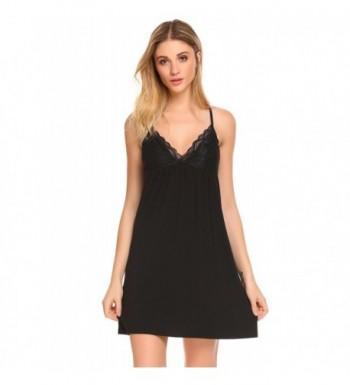 045557e00e Womens Chemise Sleepwear V-Neck Nightgown Full Slip Lace Lounge ...