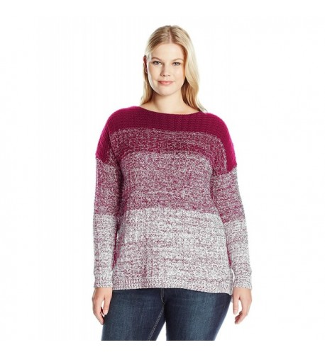 Leo Nicole Womens Sleeve Sweater