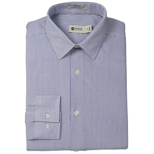 Haggar Stripe Collar Regular 17 5x34