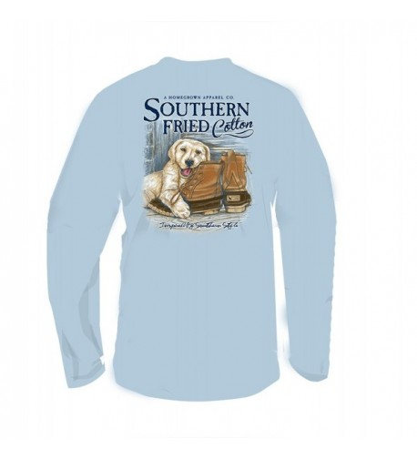 Southern Fried Cotton T Shirt Southern Sky Medium