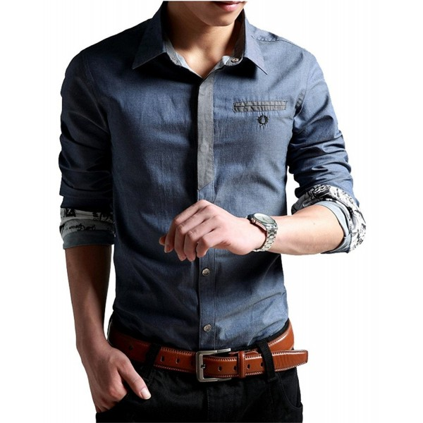 XTAPAN Casual Shirt Sleeve Button