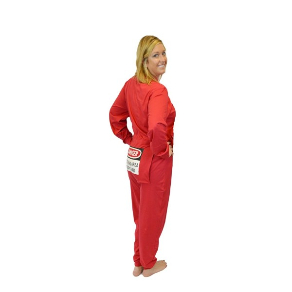 ade7102f4431 Red Union Suit Men   Women Onesie Pajamas With Funny Butt Flap ...