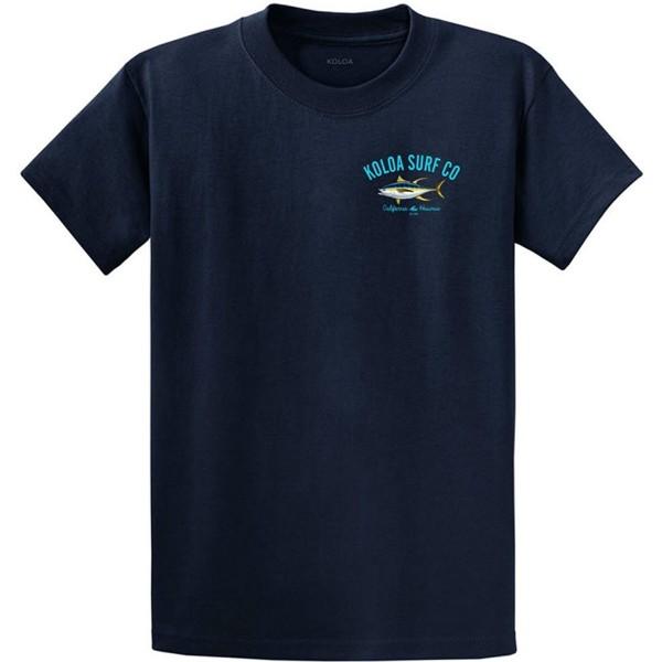 Joes USA Yellow Heavyweight T Shirt Navy