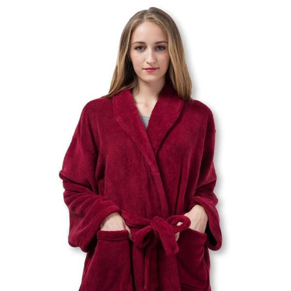 1c38ff3f5d Ladies Robe - Plush Fleece - Kimono Wrap - Spa Bathrobe Women- Girls ...