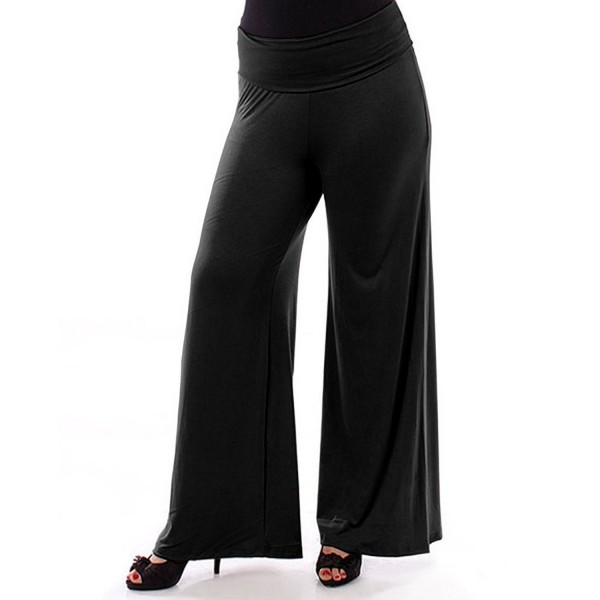 8b0984ad281 Womens Plus Size Wide Leg Palazzo and Gaucho Lounge Pants 1X - 6X ...