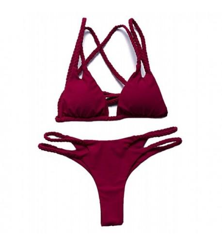 Triapple Vintage Tankini Bikini Swimsuit