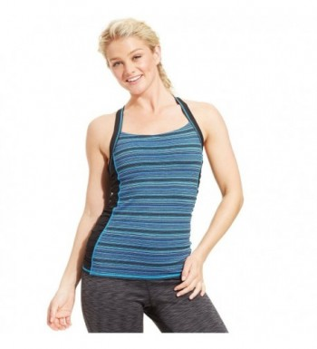 Ideology Womens Striped Crisscross Ruched