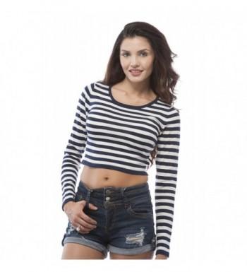 Sleeve Stripe Sweater Large White