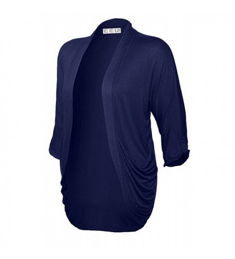 Womens Cardigan Solid Details 84_NAVY