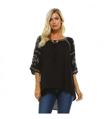 Carrie Allen Womens Casual Embroidered