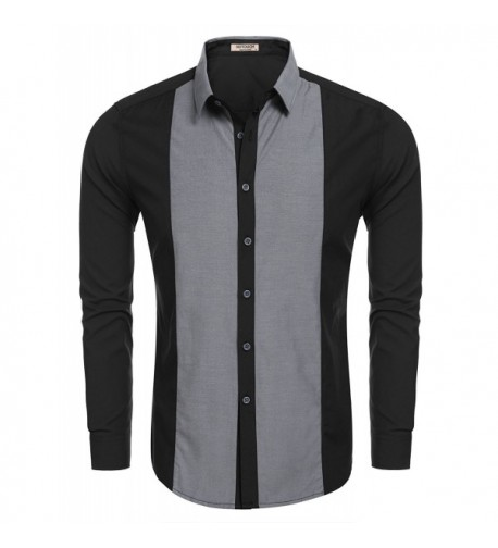 HOTOUCH Business Casual Shirts Black