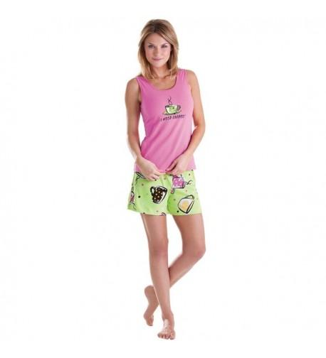 PajamaGram Coffee Cotton Womens Pajamas