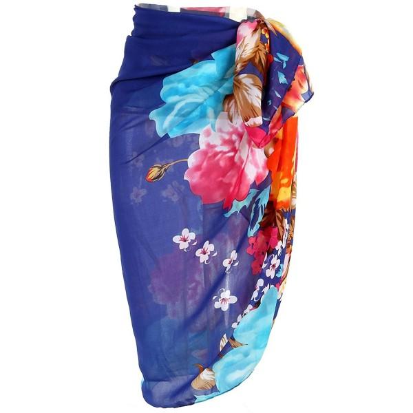 d9234dfa80 ... Womens Swimwear Chiffon Printed Cover up Beach Sarong Pareo Bikini  Swimsuit Wrap - 19 - CJ186N79YYY. Ayliss Swimwear Chiffon Printed Swimsuit