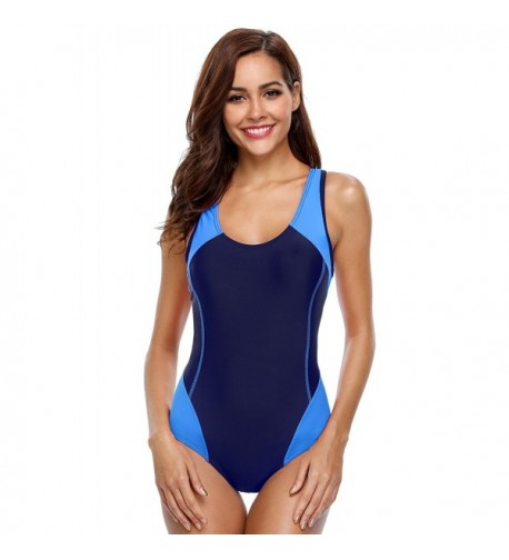 cd2a876c5cd Women s Tankini Vintage Swimdress Halter One Piece Swimsuits Printed ...