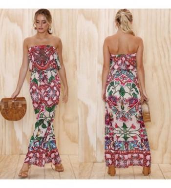 053989134d ECOWISH Shoulder Strapless Jumpsuit Rompers  Fashion Women s Jumpsuits  Outlet ...
