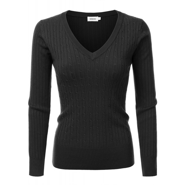 NINEXIS Womens Sleeve Twisted Sweater