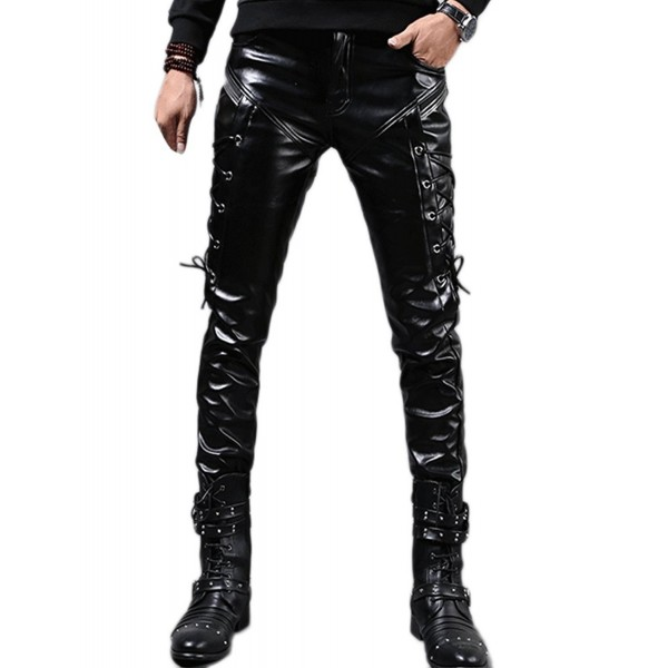 Idopy Men Steampunk Leather Pants
