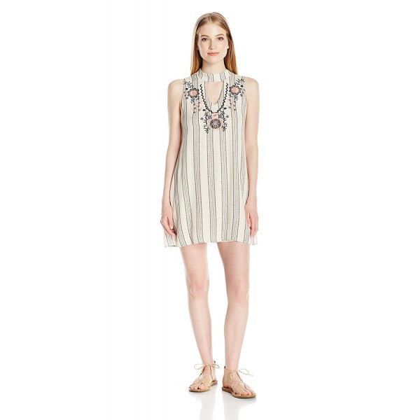 Trixxi Womens Trapeze Dress Beige