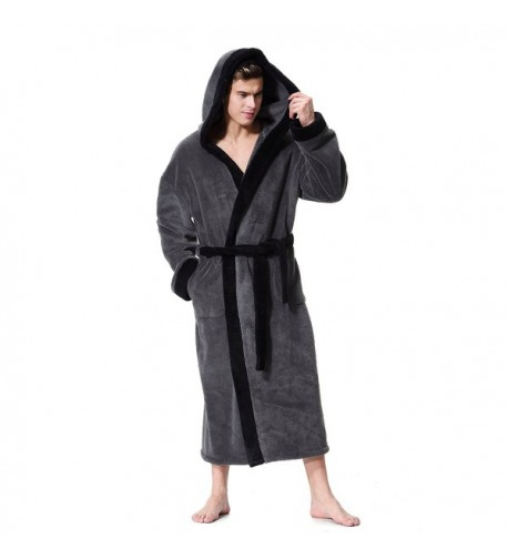 Mens Hooded Bathrobe OUFANG Kimono