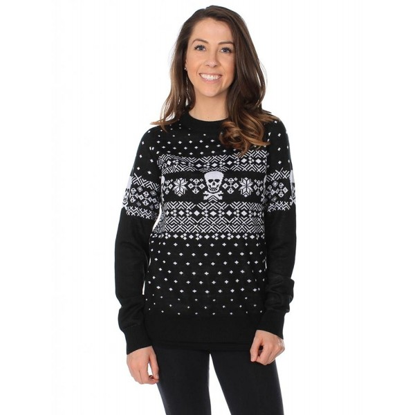 Fair Isle Christmas Sweater.Women S Skulls And Cross Bones Fair Isle Christmas Sweater Cy11n5qosht