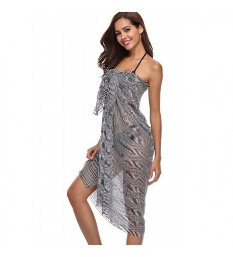 ATTRACO Womens Beachwear Striped Swimwear