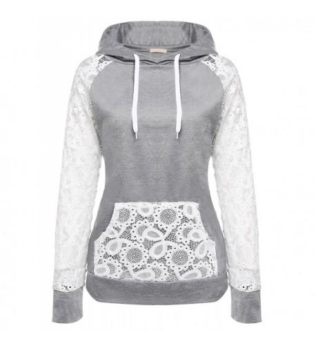 BeautyUU Sleeve Pullover Sweatshirt Pockets