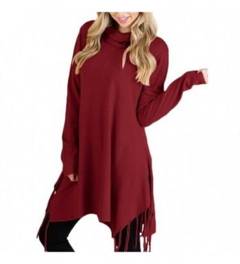 HOTAPEI Knitted Lightweight Sweater Burgundy