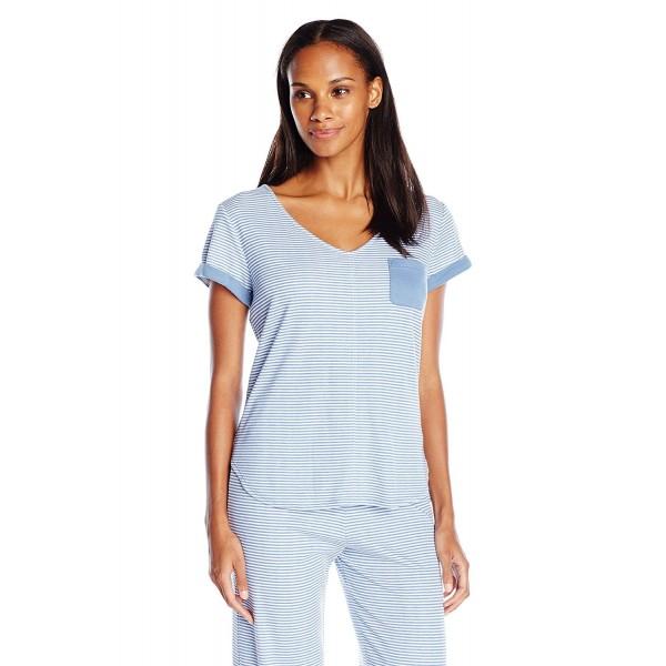 ddc205e3992a ... Women s Short Sleeve Pajama Top PJ - Chambray Stripes - CJ12ECBZVNZ. Karen  Neuburger T Shirt Chambray Stripes