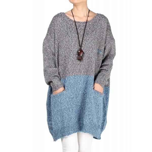 Mordenmiss Womens Oversized Dress Sweater