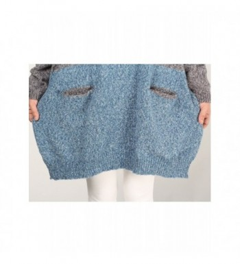 bdb3c22aa Women s Oversized Pullover Knit Sweater Top - Contrast Color-blue ...