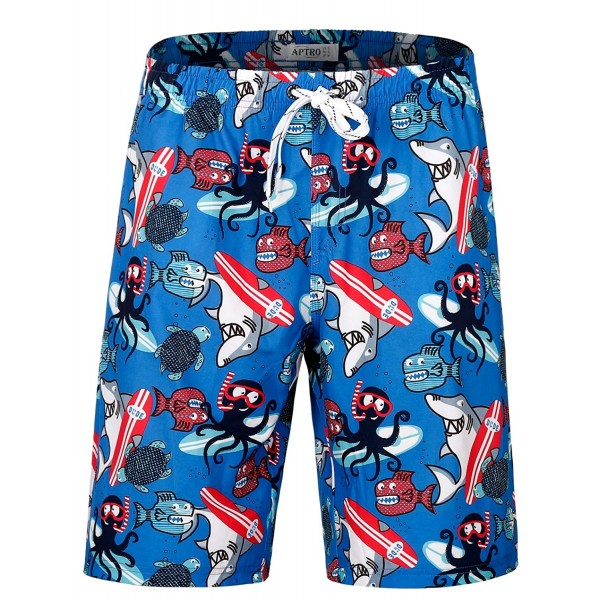 APTRO Trunks Pockets Hawaiian Shorts