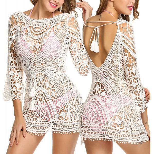 39d0b8ad7660d Avidlove Womens Crochet Backless Bathing. . Avidlove Womens Crochet  Backless Bathing. Fashion Women's Swimsuit Cover Ups ...