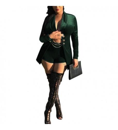 Kafiloe Womens Outfits Velvet Blazer